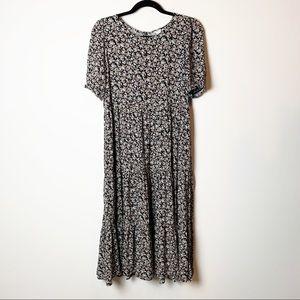 Aerie NWOT Floral Tiered Hem Maxi Dress S
